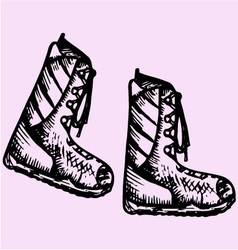 Winter boots vector