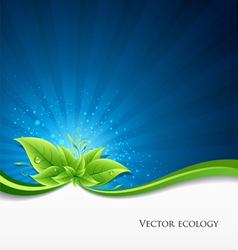 Green leaves ecology vector