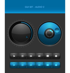 GUI Set - Audio 2 vector image