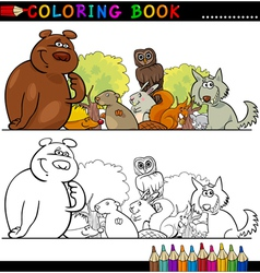 Wild animals for coloring vector