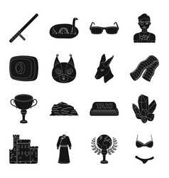 Accessory booty clothing and other web icon in vector