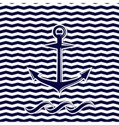 Anchor symbol on the chevron background vector