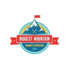 Biggest mountain - summer expedition - logo vector