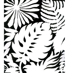 Black and white watercolor leaves pattern vector