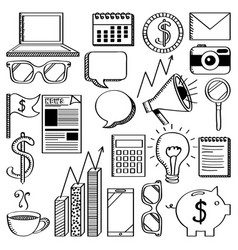 Business related icons vector