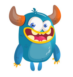 Cartoon blue monster vector