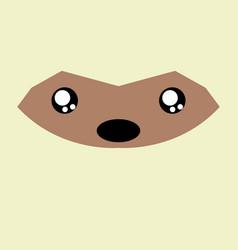 Cartoon opossum background vector