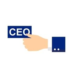 Ceo icon or symbol vector
