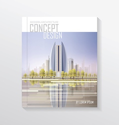 Cityscape document template vector image