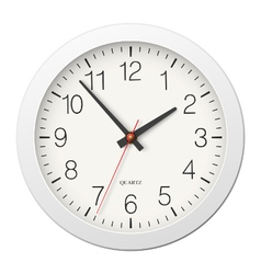Classic round wall clock with white body vector