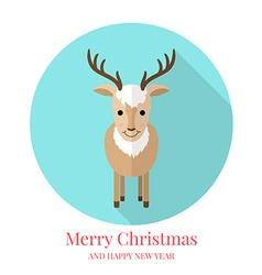 Cute deer flat style vector