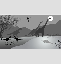 Dinosaurs 2 vector image