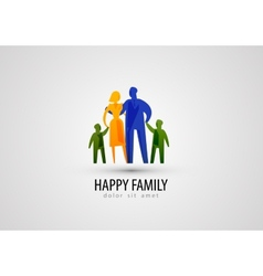 Family logo design template parents or people icon vector