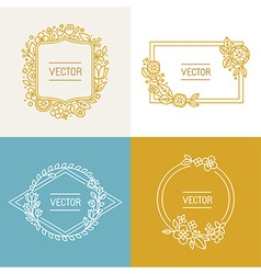 Floral frame with copy space for text vector