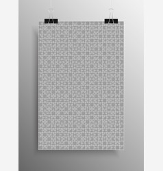 grey puzzle pieces jigsaw background vector image vector image