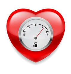 Heart with fuel indicator vector