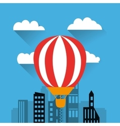 hot air balloon icon vector image