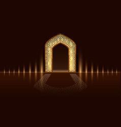 islamic door of the mosque ramadan kareem vector image