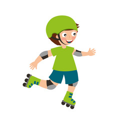 little skater avatar icon vector image