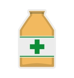 Medicine jar icon Medical and Health care vector image vector image