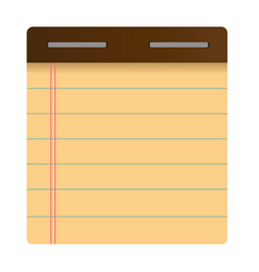 Notepad flat icon vector