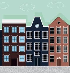 Original colourful european houses vector