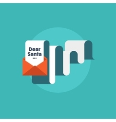 Paper letter with envelope flat style christmas vector