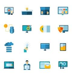 Program development icons set vector