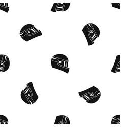 Racing helmet pattern seamless black vector