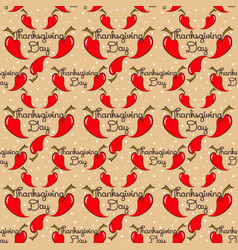 Seamless pattern thanksgiving with pepper vector