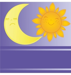 set of sun and moon day and night vector image