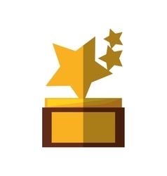 Stars trophy awards shadow vector