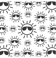 sun with sunglasses character vector image vector image