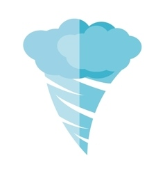 twister climate symbol isolated icon vector image
