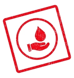 Water service icon rubber stamp vector