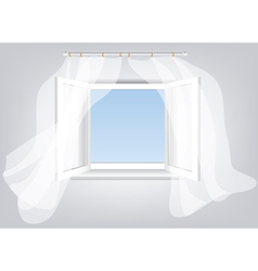 sky in window vector image