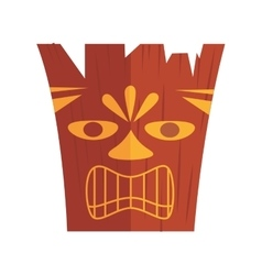 Carved hawaiian tiki design vector