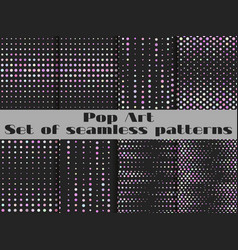 Dotted pop art seamless pattern background the vector