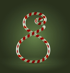 Candy cane abc 8 vector