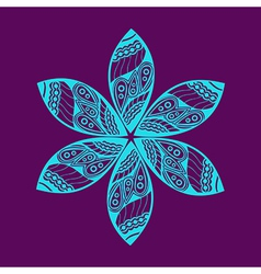 Floral ornament decoration vector