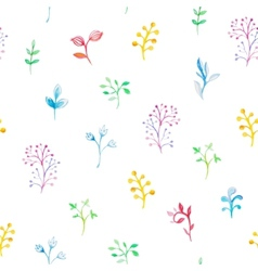 Floral watercolor seamless pattern vector
