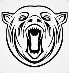 Angry Bear Tribal vector image