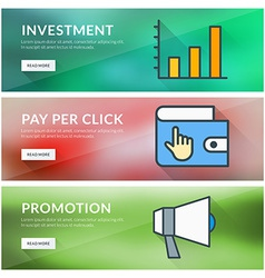 Flat design concept for investment pay per click vector