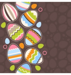 Greeting card wiry easter eggs vector