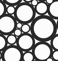 monochrome hole seamless pattern vector image