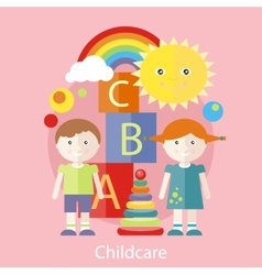Childcare concept vector