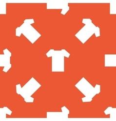 Orange t-shirt pattern vector