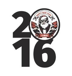Bad santa 2016 vector