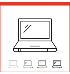 Icon of laptop vector