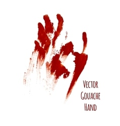 Red greased hand imprint vector